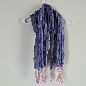 Urban Outfitters BDG striped fringe scarf